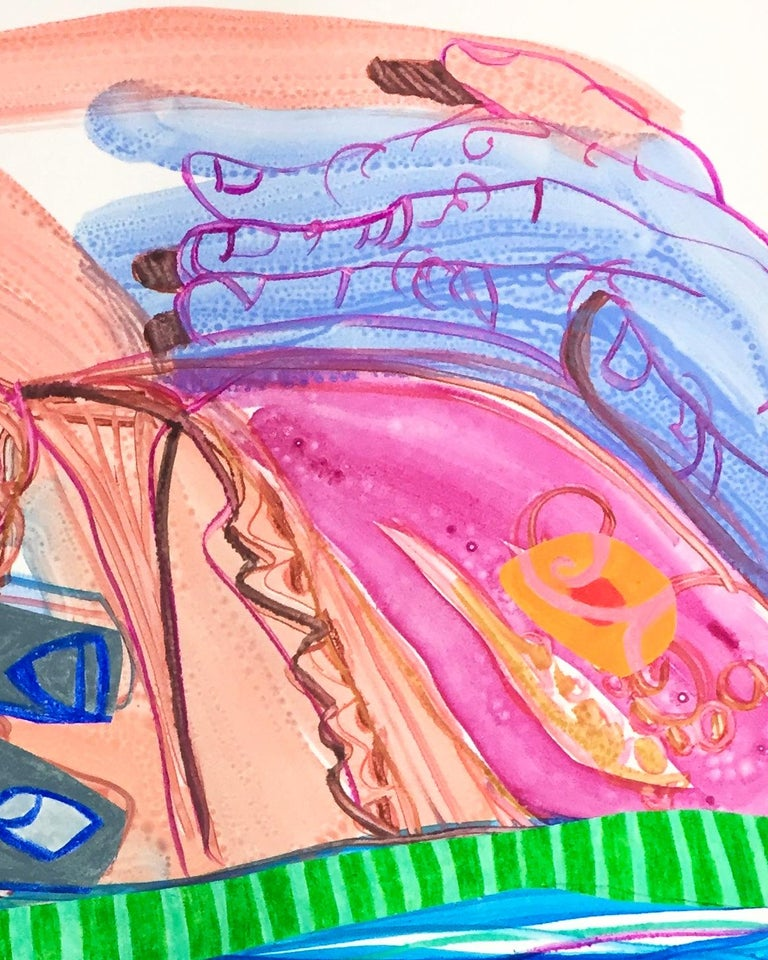 Sarah Faux Untitled Multicolor Monotype For Sale 2
