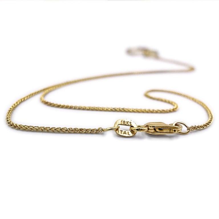 Contemporary Sarah Graham White Diamond Gold Open Pebble Pendant Necklace For Sale