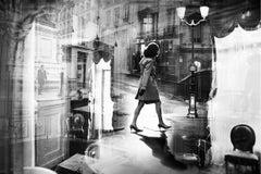 """Crossing Paris"" Limited Edition Print by Sarah Hadley / black & white"