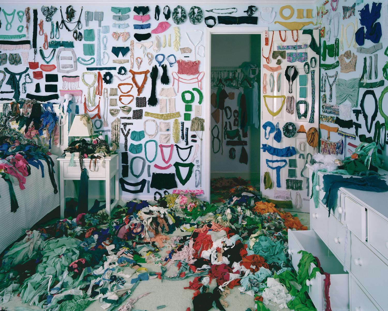 Emotive, Methodical - Twilight Living Series Chromogenic Print, Hanging Garments