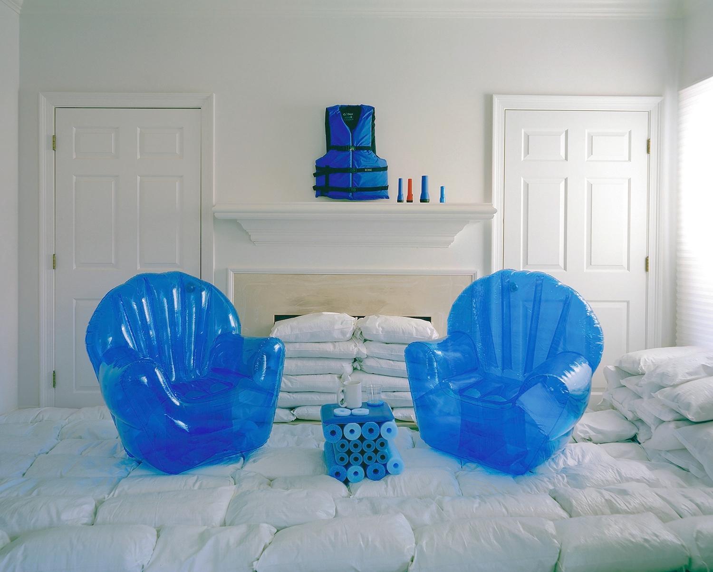 Flood Ready - Twilight Living Series Chromogenic Print, Blue Inflatable Chairs