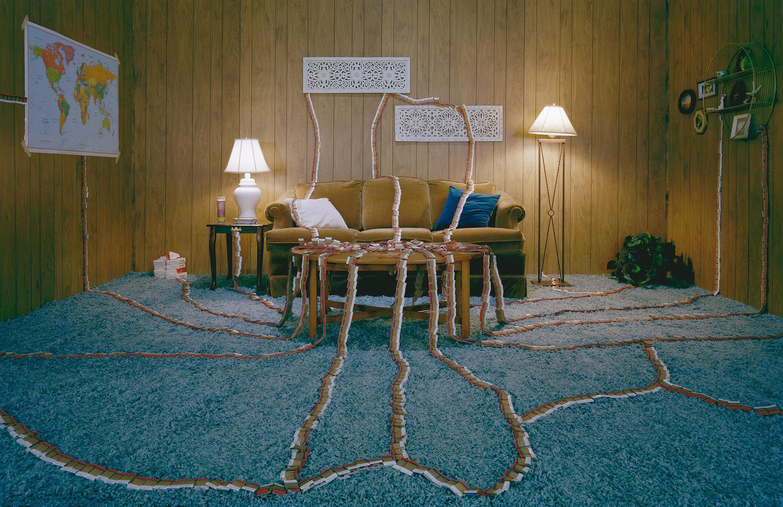 Operable Arrangement - Twilight Living Series Chromogenic Print, Wood Panel Room