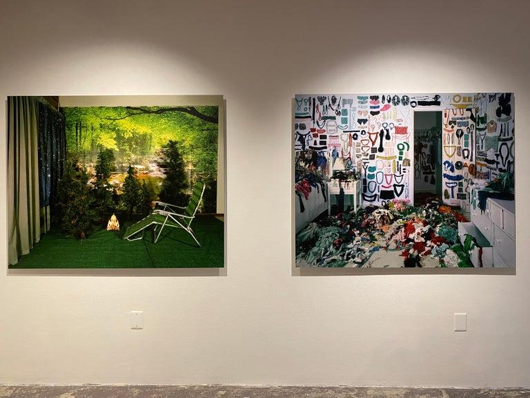 Private Nature - Twilight Living Series Chromogenic Print, Green, Tree Room For Sale 2