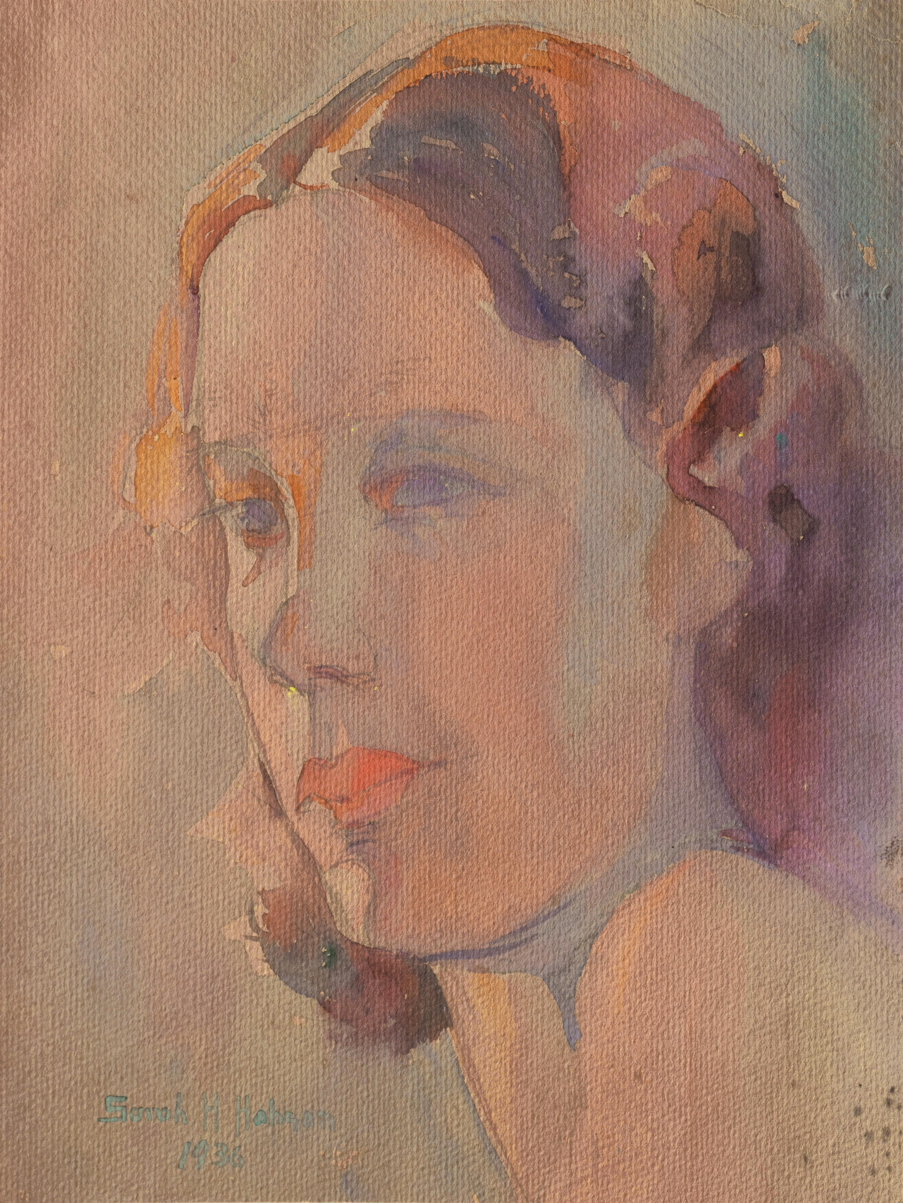 'Study of a Young Woman', California Woman artist, Art Institute of Chicago
