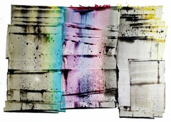 """Sarah Irvin """"I Assumed"""" Abstract Ink Painting on paper"""