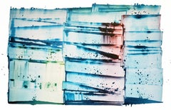 "Sarah Irvin 'I Have Some"" Abstract Ink Painting on paper"