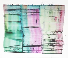 "Sarah Irvin ""Impression"" Abstract Ink Painting on Paper"