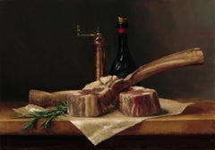 """Bistecca ala Fiorentin"" - Still Life - American Realist Painting - Sargent"