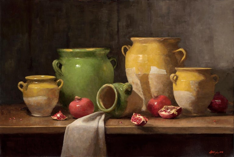 Sarah Lamb Interior Painting - Confit Pots and Pomegranates