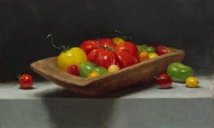 """Heirloom Tomatoes"" - Still Life - American Realist Painting"
