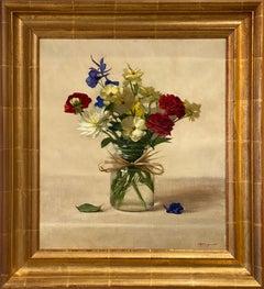 Texas Spring Bouquet (still life, fresh flowers, patriotism, lone star state)
