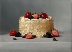 """Tres Leches"" - Cake Still Life - American Realist Painting"