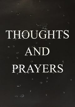 Thoughts and Prayers, Bullet Holes on Paper, Political Art, Gun Rights, Framed