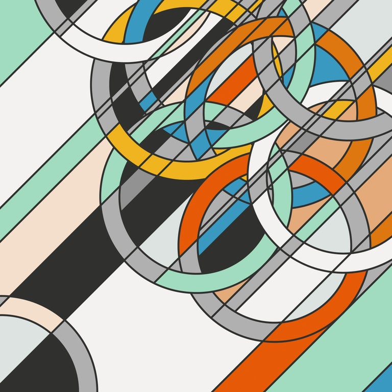 Sarah Morris Abstract Print - Rings, Abstract Art, Geometric Abstraction, Contemporary Art