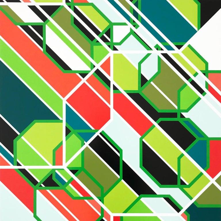 Sarah Morris Abstract Print - Sony (Los Angeles),  Screenprint, Abstract Art, Geometric Abstraction