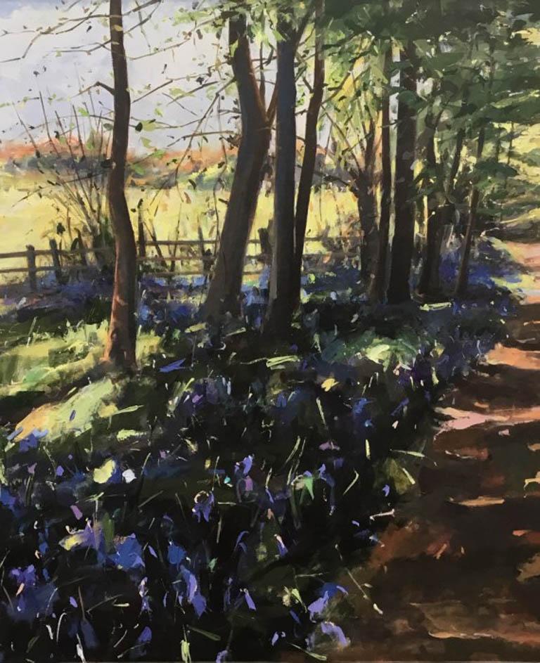Draw Near To Me, Contemporary Landscape painting , original art, Purple Art,
