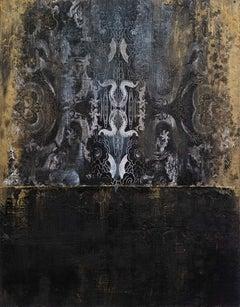 Patterns of Duality, Sarah Raskey. Mixed media on canvas