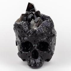 Smoky Crystal Skull Sculpture