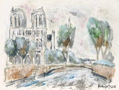 Cathedral Notre Dame de Paris, Sarah Roberston Impressionist Parisian Scene