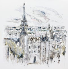 'Ile de la Cite' by Sarah Robertson Large Impressionist Paris Painting