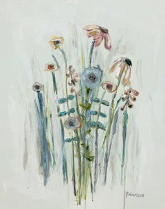 In My Garden I am Free by Sarah Robertson, Impressionist Floral Painting