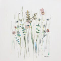 On a Quiet Morning by Sarah Robertson, Square Impressionist Floral Painting