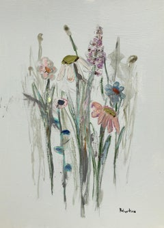 The Glory of the Garden II by Sarah Robertson, Vertical Mixed Media Painting