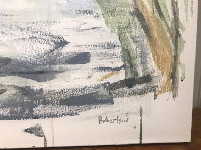 The River Seine - Paris by Sarah Robertson, Large Mixed Media on Canvas Painting 2