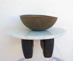Untitled Marble Bronze Wood Sculpture