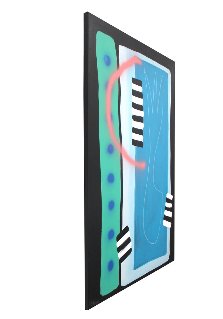I Left My Heart in Pear Blossom - Blue Abstract Painting by Sarah Svetlana