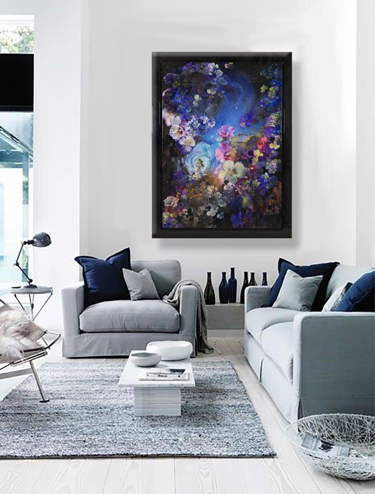 Flower Nebula - Painting by Sarah Warren
