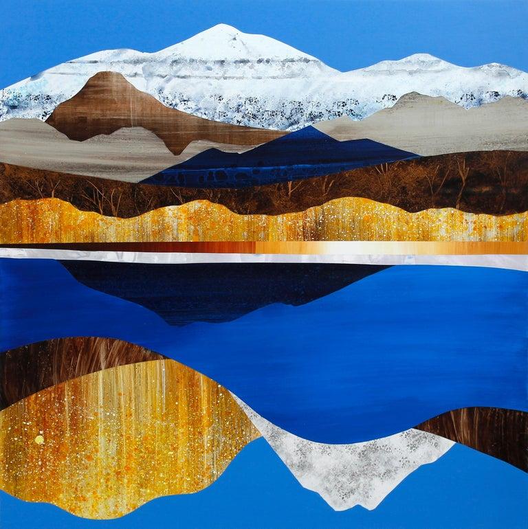 Sarah Winkler Abstract Painting - Lake Tahoe, Fall