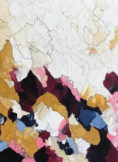 Fever Pitch - gestrual abstract landscape by Sarah Wolfe