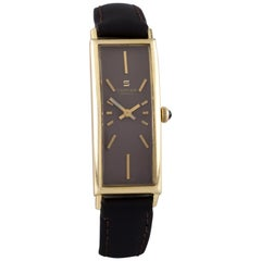 Sarcar 18 Karat Yellow Gold Hand-Winding Women's Dress Watch with Leather Band
