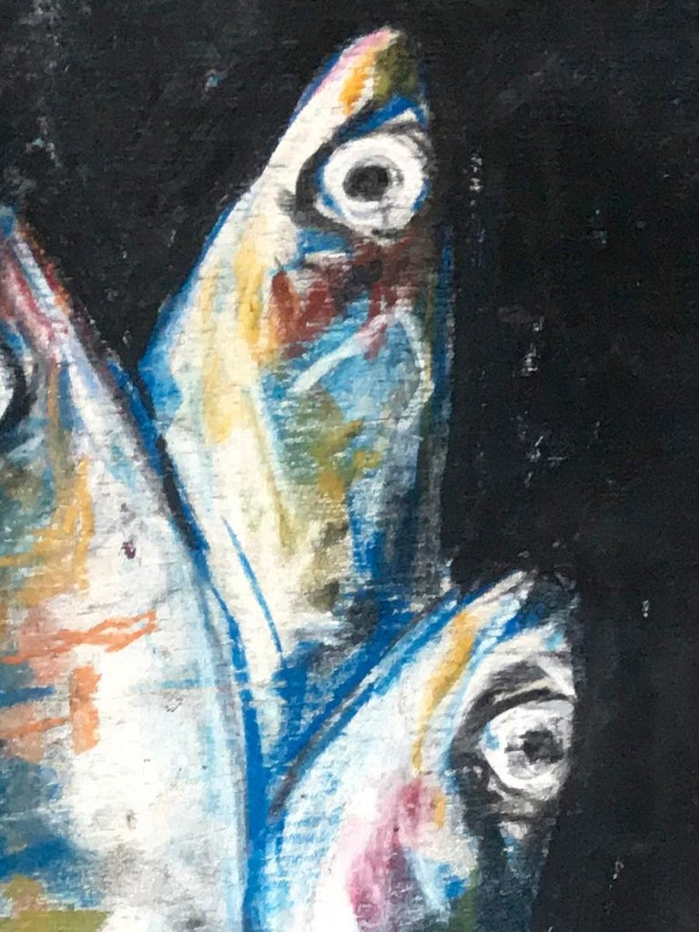 Sardine Colazione Fish Painting In Excellent Condition For Sale In New York, NY