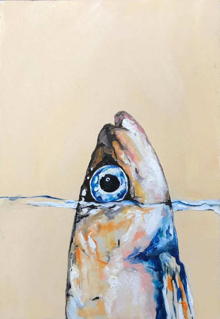 Italian Sardine in the Wonderful Sea Fish Painting For Sale