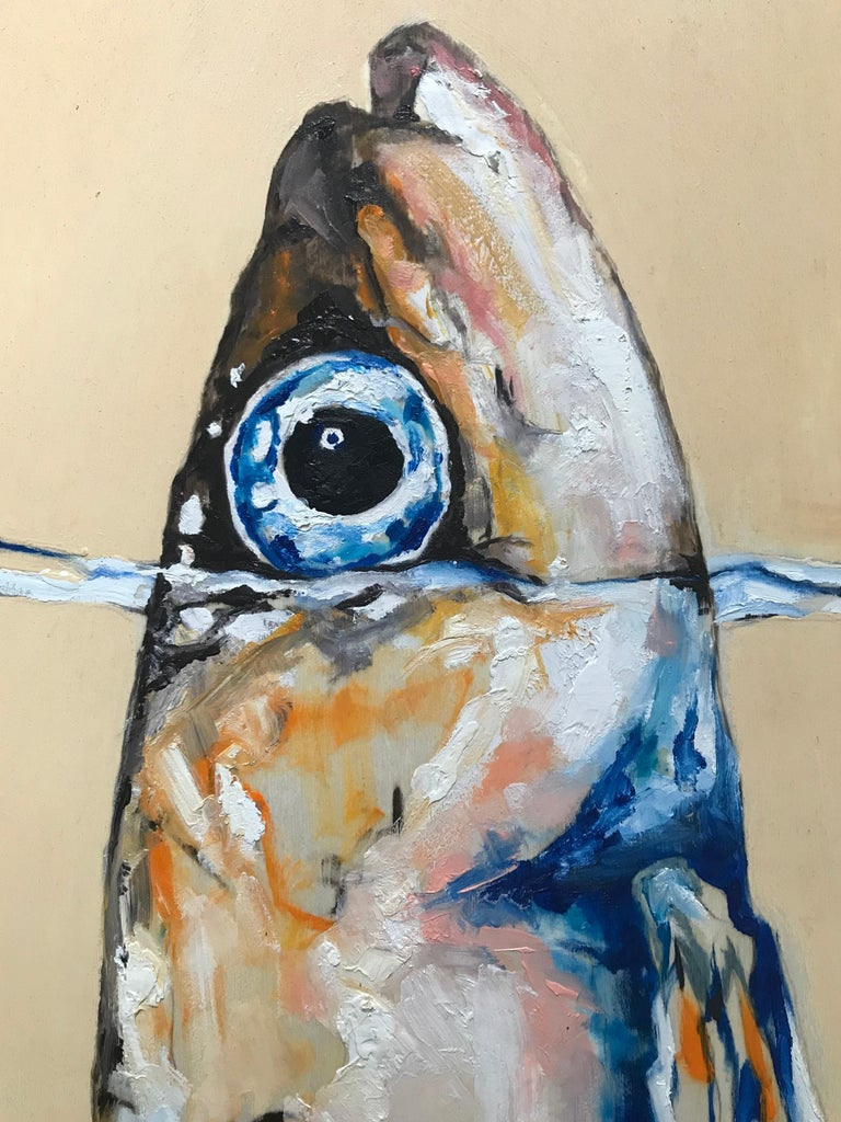 Sardine in the Wonderful Sea Fish Painting In Excellent Condition For Sale In New York, NY