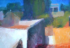 From the roof terrace by Sargy Man - Painting, 20th Century