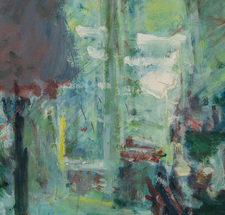 Sargy Mann, Studio with standard lamp - Contemporary Painting by Sargy Mann