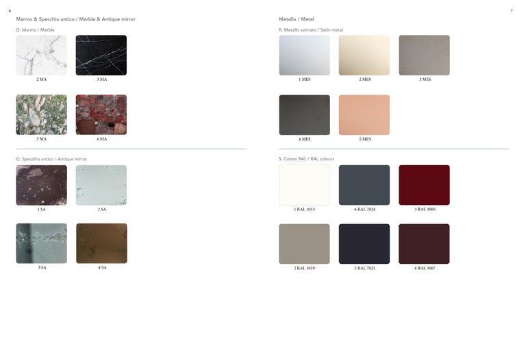 Sarita 2 Colors Luxury Cabinet Metal Structure, Jewel Handles & 2 Wooden Compart For Sale 5