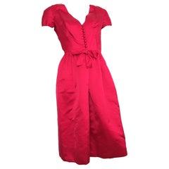 Sarmi Silk 1960s Cocktail Evening Dress Size 4.