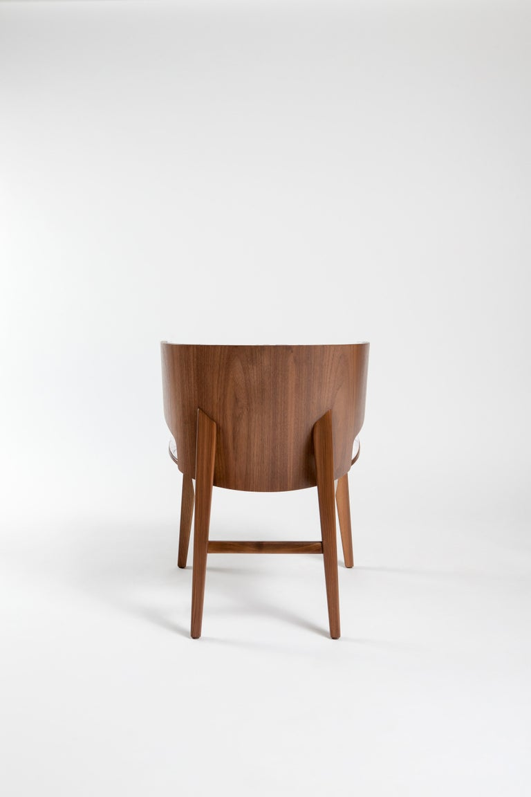 Contemporary Sarr, Mid-Century Modern Wooden Chair, Dining chair, Office chair For Sale
