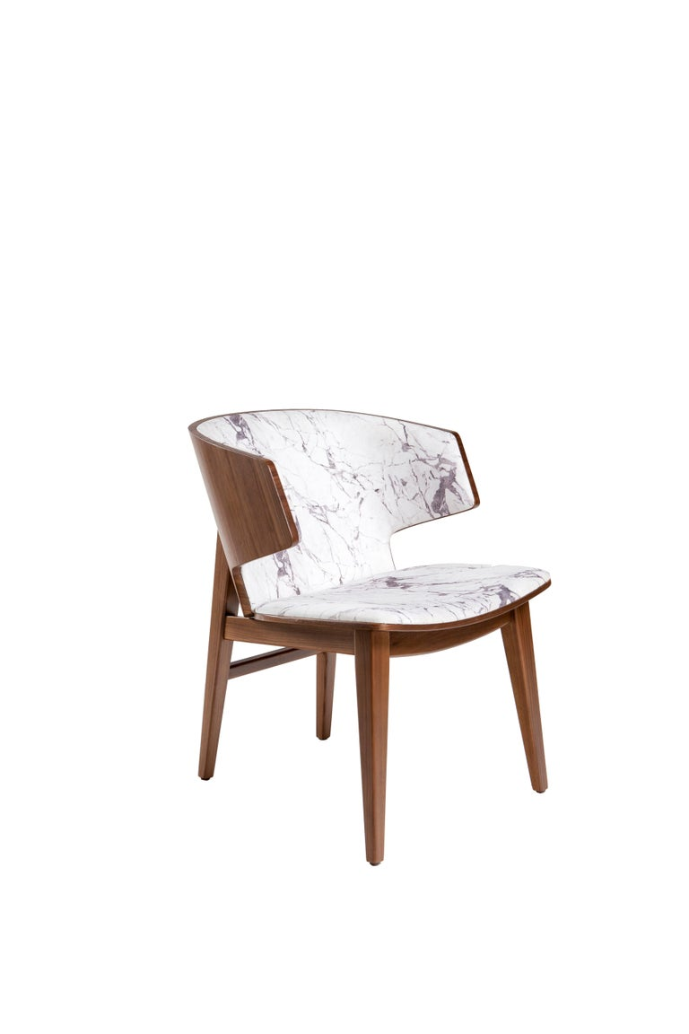 Contemporary Sarr, Mid-Century Modern Style Wooden Chair, Dining Chair, Office Chair For Sale