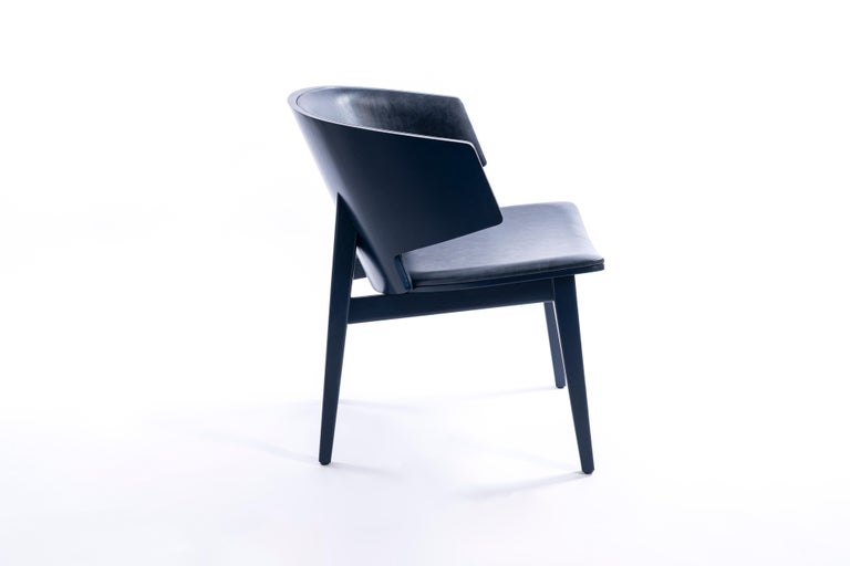 Sarr, Mid-Century Modern Wooden Chair, Dining chair, Office chair For Sale 3