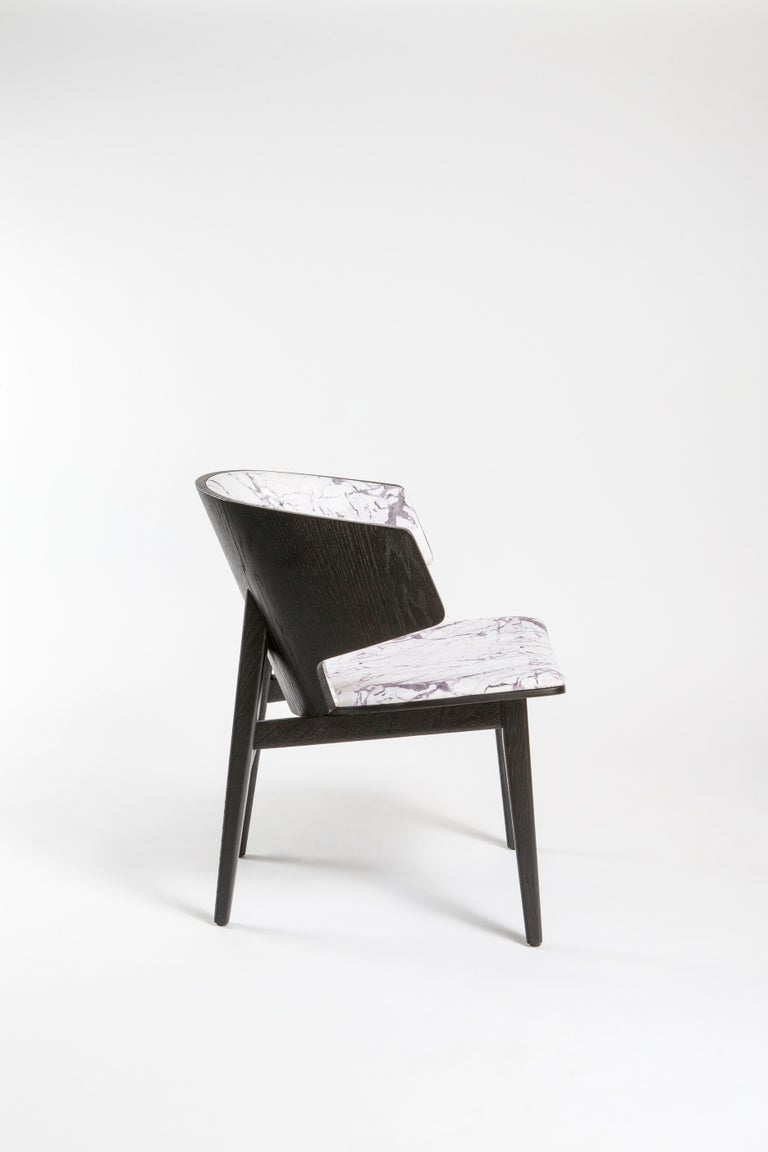 Sarr, Mid-Century Modern Wooden Chair, Dining chair, Office chair For Sale 4