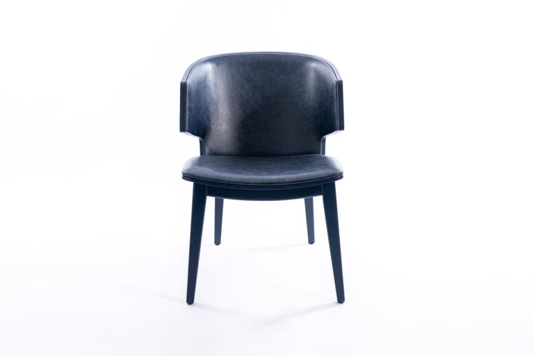 Sarr, Mid-Century Modern Wooden Chair, Dining chair, Office chair For Sale 1