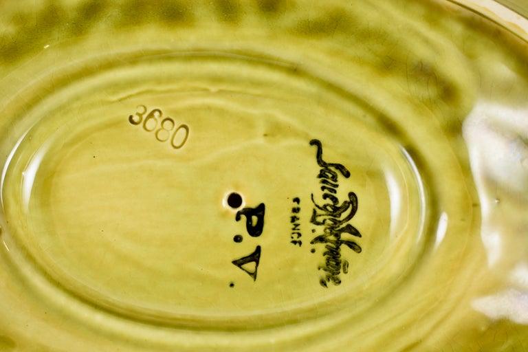 Sarreguemines French Barbotine Majolica Trompe l'Oeil Melon Covered Tureen For Sale 8