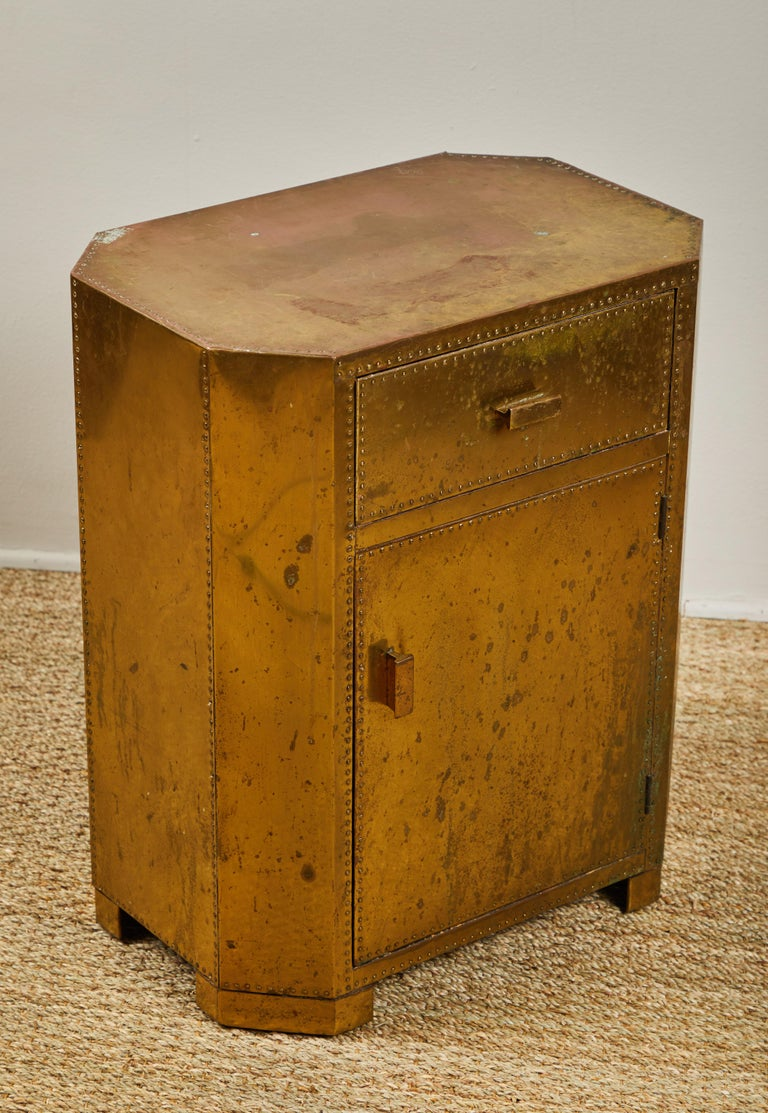 Sarreid Brass Chest In Good Condition For Sale In Los Angeles, CA