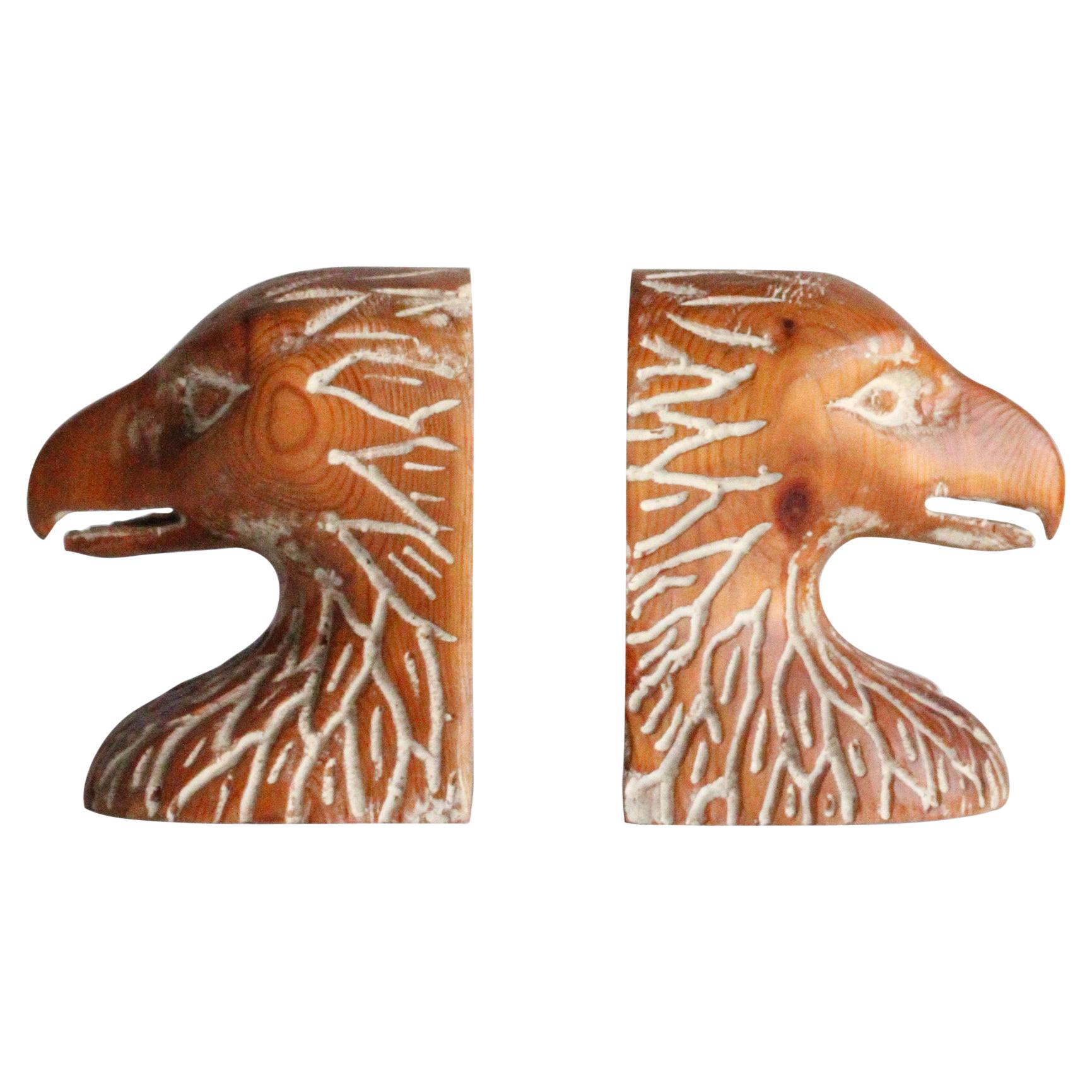 Sarreid Hand Carved Bookends, 1970s, Spain