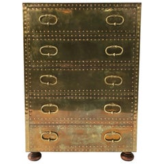 Sarreid Ltd. Brass Chest